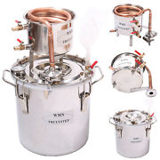 10l-100l Ethanol Water Copperandstainless Home Alcohol Distiller Moonshine Still