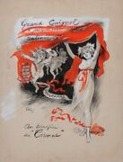 Original Vintage French Maquette For Grand Guignol By Grun - Extremely Rare 18