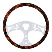 18 Flame Steering Wheel With Hydro-dip Finish Wood - Lady