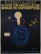 Original Vintage French Advertising Poster Emprunt A Prime By Paul Colin