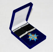 Wwi German Army Blue Max Medal Military Badge With Ribbon And Box