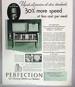 Perfection Oil-burning Stoves And Ranges Print Ad - 1931 Stove