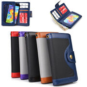 Unisex Protective Smart Phone Wallet Case W/ Built In Screen Protector Smenba-8