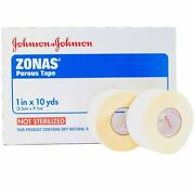 Johnson And Johnson Zonas Porous Athletic Trainers Tape 1 In X 10yds 5104