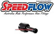 Speedflow 5/16 8mm To 6an An6 An -6 Female Hose Fitting Adapter Push On - Black