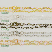 """24""""4.33mm Heart Link Necklace Chains Finished Chain With Lobster Clasp 10pcs"""