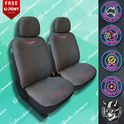 Rmw Rm Williams Grey/pink Jillaroo Front Car Seat Cover Suede Velour Charcoal