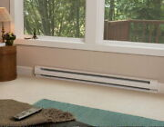 Cadet 8f2000w Heater, 8 Ft. 2000w Electric Baseboard Heater - White 240v 8.3 Amp