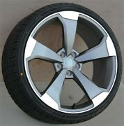 20 Wheels And Tires Pkg 20x9 5x112 Audi A4 A5 A5 S5 A6 S6 A7 A8 Rs4 Rs5 Rs6 Rs7