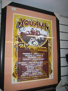 Signed You Am I Rare One Of A Kind Framed 2003 Tour Poster Whiskey Eggs And Bacon