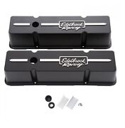 Edelbrock 41643 Racing Series Tall Profile Valve Covers For 262-400 Chevy V8