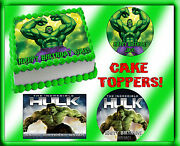 The Incredible Hulk Cake Topper Edible Sugar Paper Tops Picture Image Birthday