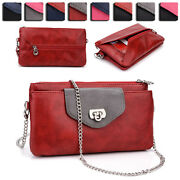 Womens Fashion Smart-phone Wallet Case Cover And Crossbody Purse Ei65-9