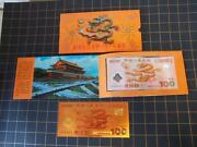 China 2000100 Yuanred Dragon Commemorative Edition Of The Millennium With Coin