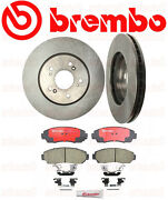 Set Of 2 Brembo Front Rotors And Brembo Pads Acura Rdx And Cr-v Crosstour