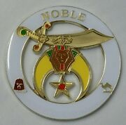 Shriners Noble Cut Out Car Emblem In White