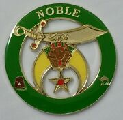 Shriners Noble Cut Out Car Emblem In Green