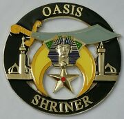 Shriners Oasis Cut Out Car Emblem In Black