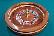 25 Inch Solid Mahogany Roulette Wheel Made In Usa By Acem Casino Supplies