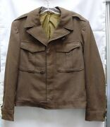 Ike Jacket Ww2 Wwii Us Army Non-exposed Button No Patches 38r
