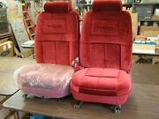 Nos Oem Ford 1982 1983 1984 Thunderbird Red Front Seats Pair T-bird Seat Covers