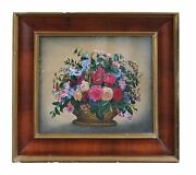 Exceptional American Theorem Still Life Painting - First Half 19th Century