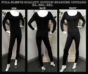 Plus Size Soft Cotton Lycra Long Sleeve Unitard. Best Quality,price Anyware