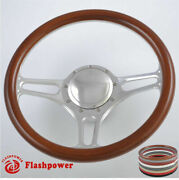 14and039and039 Billet Steering Wheels Wooden Ford Fairlane Galaxie Ltd Ranchero