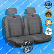 Rmw Rm Williams Front Car Seat Cover, High Quality Suede Velour Charcoal, 30