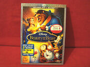 New Disney Beauty And The Beast 2010 1st Release Diamond Edition Dvd+blu-ray