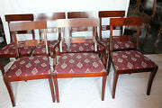 Great Set Of Eight English Regency Mahogany Dining Chairs 2 Arm And 6 Side Chairs