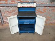 Vintage 1960s United Delco Power Service And Parts Cabinet 1957 - 1967
