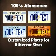 Kansas Car Auto Or Motorcycle Moped Custom Personalized License Plates Custom