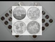 100 Pieces х 25 Rubles Blister Sochi 2014 Olympic4 Types Of Whole Sheetsunc