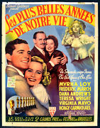Best Years Of Our Lives 1946 Fredric March Dana Andrews Myrna Loy Belgian Poster
