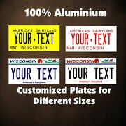 Wisconsin Tag Car Auto Or Motorcycle Custom Personalized License Plates