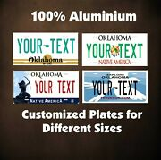 Oklahoma State Car Auto Or Motorcycle Custom Personalized License Plates