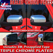 For 2009-2018 Dodge Ram 1500 Chrome Mirror Covers No Turn Signal See Notes