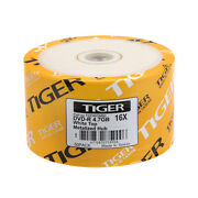 600-pk Tiger Brand 16x White Top Dvd-r Blank Disc 4.7gb Free Expedited Shipping