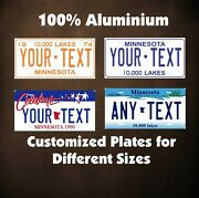 Minnesota Car Auto Or Motorcycle Custom Novelty Tag Personalized License Plates