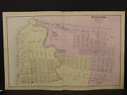 New York Long Island Map 1873 Ravenswood Queens County Double Page N376