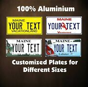 Maine State Custom Tag Auto Or Motorcycle Novelty Personalized License Plates