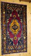Exquisite Antique 1900-1930s Lambs Wool Pile Natural Dye Area Rug 4'6''x8'6''