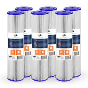 6pk Of Big Blue 1andmicrom Pleated Washable Sediment Water Filter 20x4.5 By Aquaboon