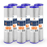 6pk Of Big Blue 5andmicrom Pleated Washable Sediment Water Filter 20x4.5 By Aquaboon