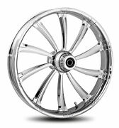 Rc Components Chrome Cypher 21 Front Wheel And Tire Harley 08-17 Flh W/o Abs