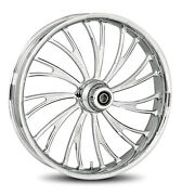 Rc Components Chrome Axxis 19 Front Wheel And Tire Harley 07-16 Flst W/ Abs