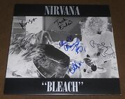 Nirvana Signed Bleach Record Album Krist Novoselic Chad Channing Dale Crover