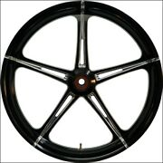 Eastern Black Polished Cut Sst 21 Front Wheel And Tire Harley 08-17 Flh W/o Abs