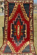 """Antique Authentic Natural Dyes Exquisite Wool Pile Area Rug 3'7"""" X 7'10"""""""